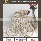 100% polyester new Ultra Soft Luxury mink blanket Fleece All Sizes Double FLOWER Printed Throw Sherpa Fleece Plush Blanket