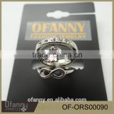 Alibaba Website Jewelry Wholesale Silver Ring Set Custom Key Ring