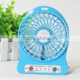 F95B Attractive Portable cool Mini USB Fan Rechargeable Battery Operated LED Lamp for Indoor Outdoor Kids Table 18650 Battery co