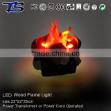 No.1 hot sale New design LED Aftifical wood Fire flame light in Red cloth with CE and ROHS approval for party use /Crafts flame