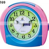 plastic door-shaped alarm clock, analog melody music desktop clock, electron bell table alarm clock