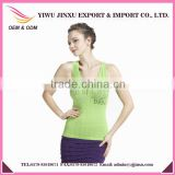 Alibaba Suppier Wholesale Sexy Zip V-neck High Quality Plus Size Seamless Sports Vest Off-shoulder Gym Crop Tops for Women