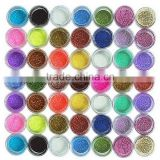 Free Shipping Beautiful 45pcs/lot Colorful Nail Art Glitter Powder Dust Decoration Strip Glitter