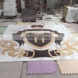 waterjet marble medallion tile lowes in carrara white                                                                         Quality Choice