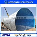large corrugated flanged nestable galvanized steel pipe
