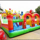 Super Mario theme inflatable amusement park/ fun city inflatable with slide