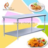 New comming CE approved fashion style stainless steel kitchen working table bench made in China for hotel restaurant