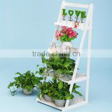 Home new style furniture living room decorative tall wood plastic shelf flower pot stands