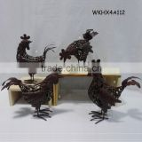 Metal handmade beautiful chinese cock craft