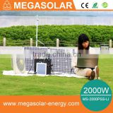 2016 High quality 2000w home backup power solar generator system AC DC output