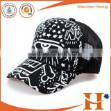 Printed logo foam snap back trucker cap for sports use