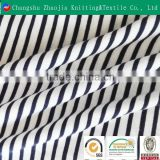 Make-to-order cotton yarn dyed printed black white stripe fabric for men's shirt fabric