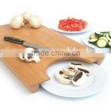 Large Chopping Board and Plate Cutting Serving Universal Collect Tray. Smart Kitchen Bamboo cutting board