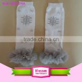 New arrival various winter print snowflake baby leg warmer kids bow socks fashion cotton Christmas Day gift children leg warmers