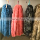 Fluffy Raccoon Fur hood trim