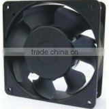 4.7 inch 110V-120V AC black plastic radiator fan 120x120x38mm
