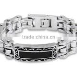 YM066 316L high polish high quality stainless steel stainless steel motorcycle chain link bracelet