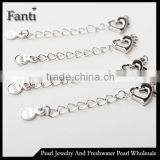 Hinged jewelry clasp for necklace bracelet with extension chain