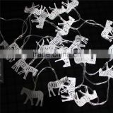 christmas party decoration outdoor indoor solar Metal zebra fairy string battery led light