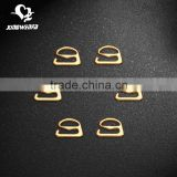 Golden metal bra rings slides adjuster buckle hooks