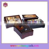 Wooden Music Box Gift Custom Logo Lid Press Button Music Box As Your Favor