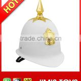 Hot New Plastic toy safety helmet white police hat with badge