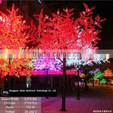 hot selling bright colored maple leaf christmas tree with led lights outdoor
