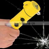 High quality 4 in 1 Car Emergency Tool / Emergency Safety Hammer / Safety hammer with flashlight/