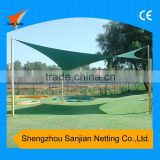 16.5'X16.5' Waterproof Sail Shade, 5*5M Waterproof Polyester fabric with PU coated sun Shade, Square Sun Shade Sail