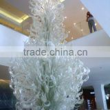 Modern luxury glass art xo-201205 and top grade art glass sculpture and Interior and hotal glass fixture