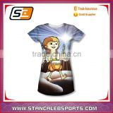 Stan Caleb 2016 stylish cartoon sublimation fashion girl/women t shirt