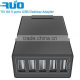 USB Charger, Yruo (8A/40W, 5 Port) Desktop USB Charging Station Hub Multi-Port USB Wall Charger, for iPhone 6s / 6 / 6 Plus,