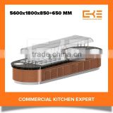 Accepted Customer Design Commercial Restaurant Display Equipment Salad Bar Refrigerator Counter