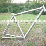 Titanium Bike Frame Titanium Cyclocross Bike Frame Tapered Headtube/V Brake/Breezer Dropouts/Fender and Carrier Mounts
