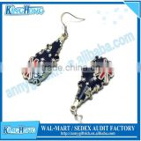 Fashion enamel metal Earring with national flag designs