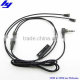 Top quality 3.5mm audio cable for ie8 ie80 ie8i earphones headset with mic and volume control