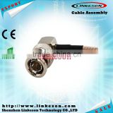 75ohm BNC male right angle Coax connector for RG179 cable