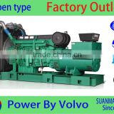 China factory generator company 500kva volvo low speed dynamo emergency genset with diesel engine