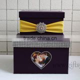 Specail wedding post box wedding card box wedding money box wiht photo frame