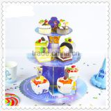 Cartoon themed 3 tier cake stand for kids birthday party cake decoration