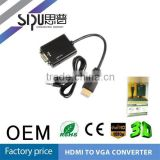SIPU 4.8mm black color av cable hdmo to vga adapter wire harness