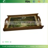 2015 Chinese Style Cherry Pattern Tea Tray with patterns
