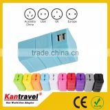 Carry protection plastic box of color can make OEM universal ac adapter SNOWWHITE TRAVEL ADAPTER