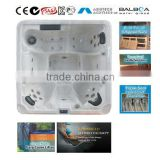 6 Persons freestanding acrylic whirlpool massage balboa system commercial portable hot tub outdoor spa