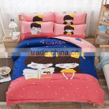 Lovely Kids Printed 100% Cotton Teens Cartoon Bedding Set