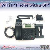 SC-2169WP WiFi network desktop VoIP Phone with 2 SIP Line