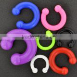Hingh Qulity Colorful siliconeBig Gauges Circular Barbell CBR Rings Body Jewelry Piercing