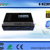 5-port HDMI Switch 5x1 5 In 1 Out Auto Switch Support HDCP, 3D, 1080P, HD Audio with IR Remote