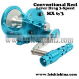 In stock Lever drag 2 speed conventional spinning jigging reel
