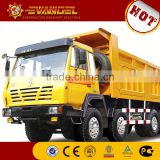 second hand dump truck SHACMAN dump truck with crane on sale